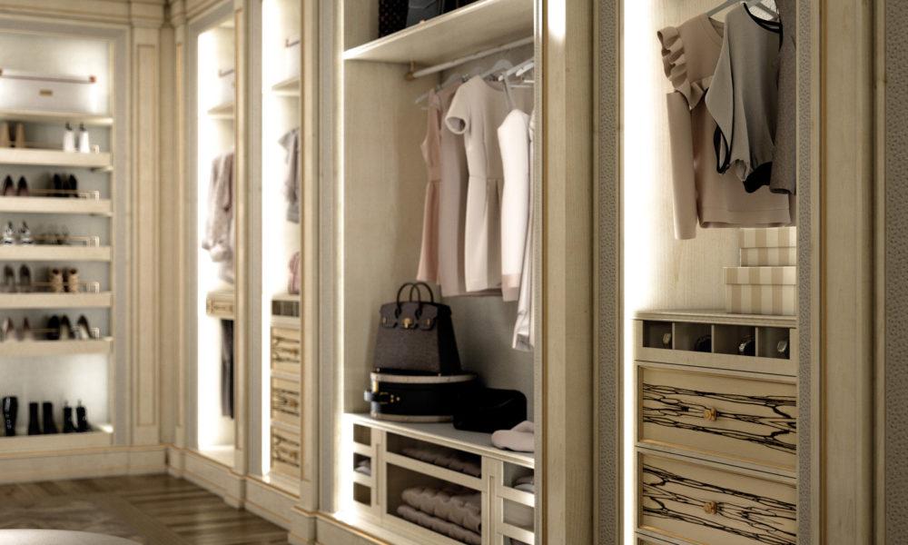 cabina armadio - vista dettaglio donna